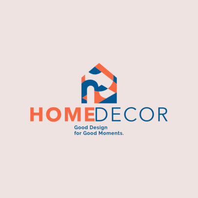 Abstract Logo Maker for Home Decor and Interior Design Companies 4064