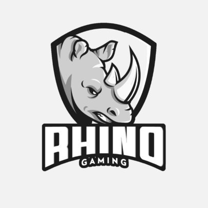 Logo Maker for a Gaming Squad with an Angry Rhino Graphic 1041d-el1