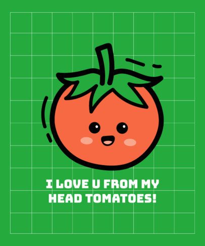 Cute T-Shirt Design Maker Featuring a Tomato Cartoon 3532c-el1