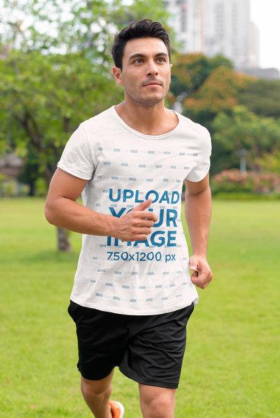 Activewear Mockup Featuring a Man Jogging at a Park 40451-r-el2