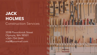 Modern Business Card Maker for Construction Service Providers 230b