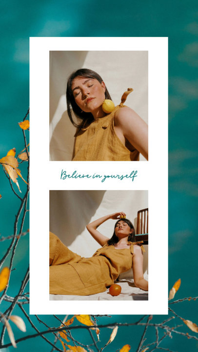 Instagram Story Design Template Featuring Fashion-Inspired Portraits 3522-el1