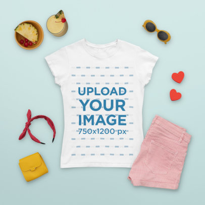 Outfit Mockup of a Tee Featuring Girly Garments m1658