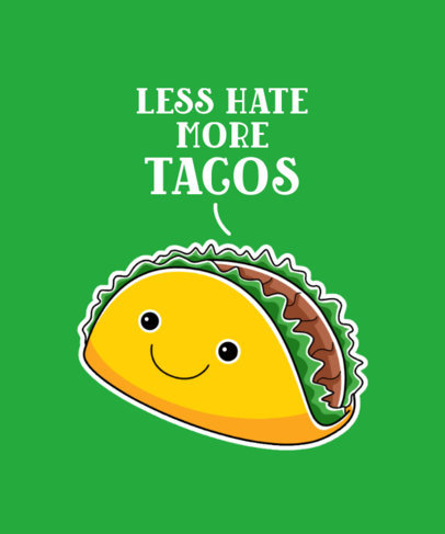 T-Shirt Design Generator Featuring a Cute Taco Illustration 3528b-el1