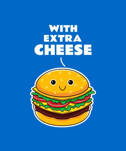 T-Shirt Design Generator Featuring a Cute Burger Graphic 3528e-el1