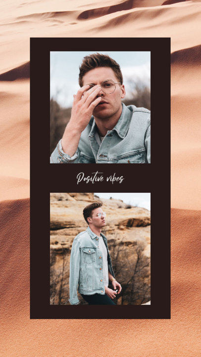 Instagram Story Design Template Featuring a Picture Collage 3522a-el1