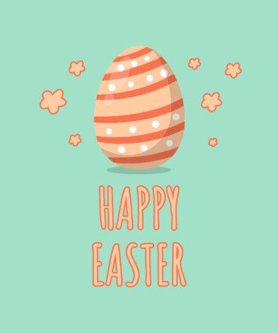 T-Shirt Design Maker Featuring Illustrated Easter Eggs 3508-el1