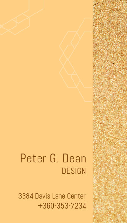 Vertical Business Card Template for a Jewelry Designer 312a