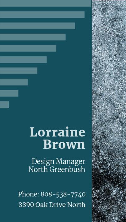 Vertical Business Card Design Maker for a Design Manager 312c