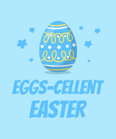Kids T-Shirt Design Generator Featuring Easter Egg Illustrations 3508b-el1