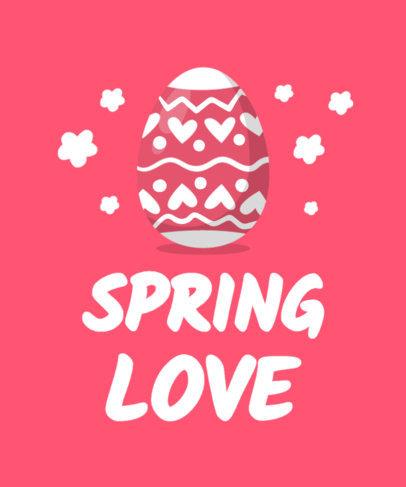 Kids T-Shirt Design Maker with Colorful Easter Egg Graphics 3508e-el1