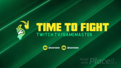 Twitch Starting Soon Screen Video Maker for a Fighting-Genre Gamer 2632
