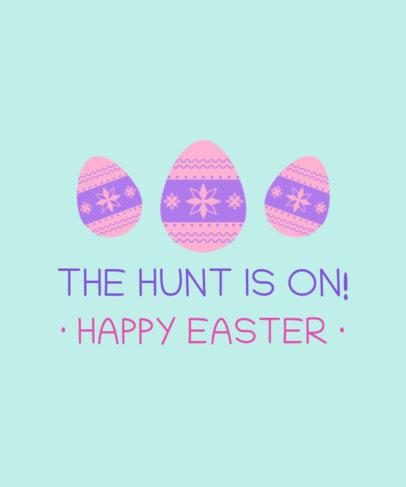 T-Shirt Design Creator Celebrating Easter Eggs Hunt 3385f