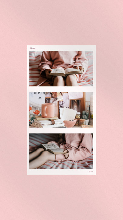 Instagram Story Template Featuring an Elegant Photoshoot 3520e-el1