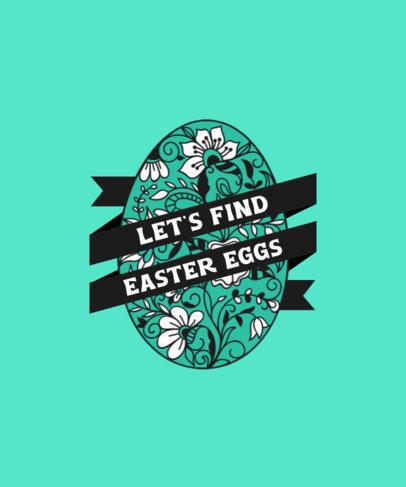 Illustrated T-Shirt Design Template for an Easter Egg Hunt 3514e-el1