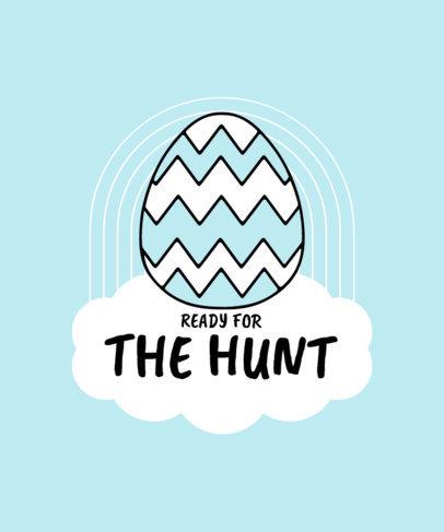 T-Shirt Design Creator Celebrating Easter Eggs Hunt 3510b-el1