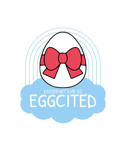 T-Shirt Design Template with an Easter Eggs Pun 3510d-el1