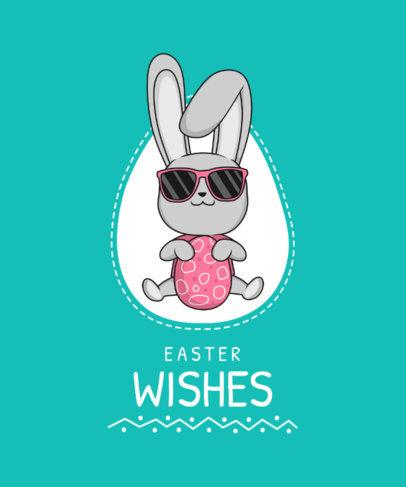 T-Shirt Design Maker Featuring Bunny Easter Illustrations 3506-el1