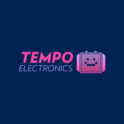 Electronics Dropshipping Logo Creator with a Smartwatch Graphic 4068f