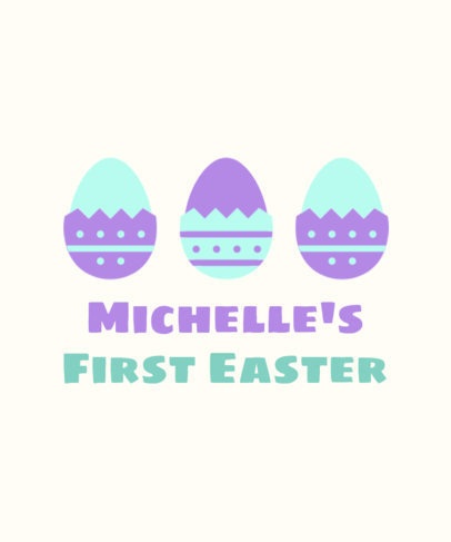 Holiday T-Shirt Design Maker for a Baby's First Easter 3385a