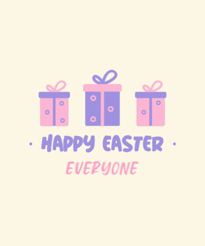 T-Shirt Design Template for Kids to Celebrate Easter 3385c