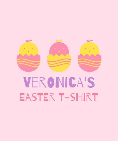 Kids Easter T-Shirt Design Maker Featuring Festive Graphics 3385g
