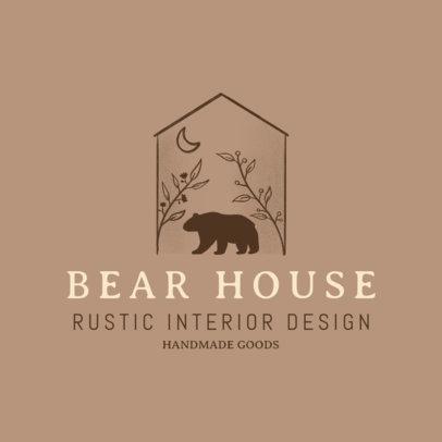 Interior Design Logo Maker Featuring a Bear Icon 4062c