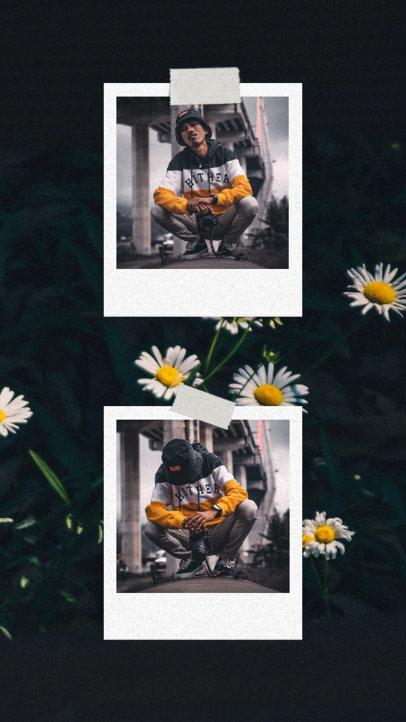 Instagram Story Design Template With Vintage Film Frames 3518-el1