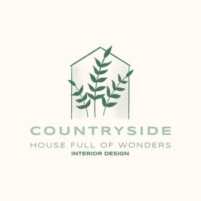 Interior Design logo Template Featuring a Minimalist Aesthetic 4062d