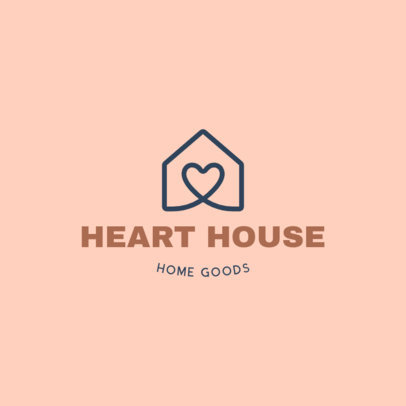 Logo Maker for Home Goods Stores With a Minimal Icon 4061f