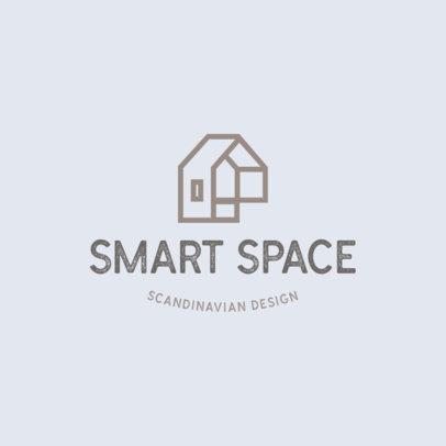 Interior Design Logo Maker Featuring a Minimal Abstract Icon 4061i
