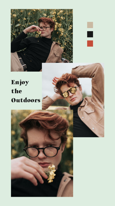 Instagram Story Design Generator for Fashion Influencers Featuring a Picture Collage Style 3516d-el1