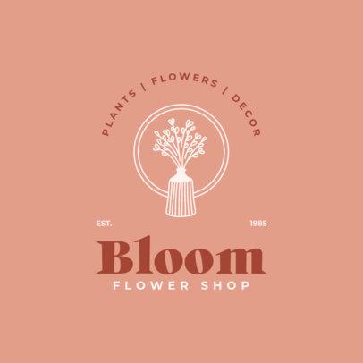Logo Template for a Home Decor Specialized Florist 4063a