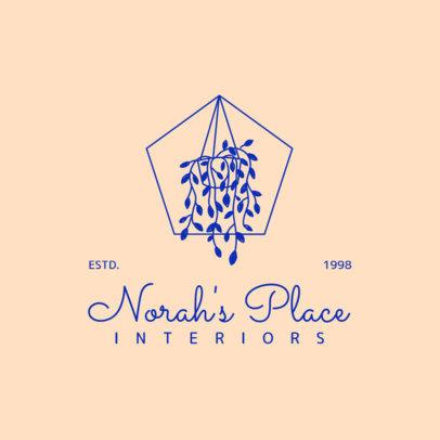 Interior Design Logo Maker with an Elegant Ornament Graphic 4063d