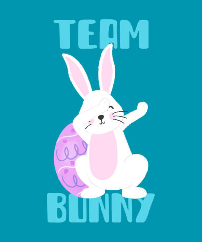 Kids T-Shirt Design Template Featuring a Dabbing Easter Bunny 3387i