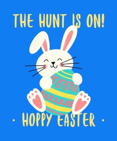 Festive T-Shirt Design Generator with a Happy Easter Bunny Graphic 3387f