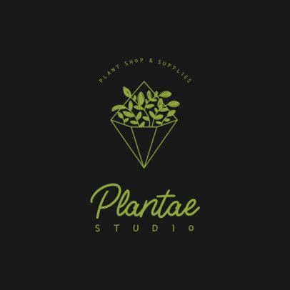 Elegant Logo Maker for a Plant Store and Supplier 4063i