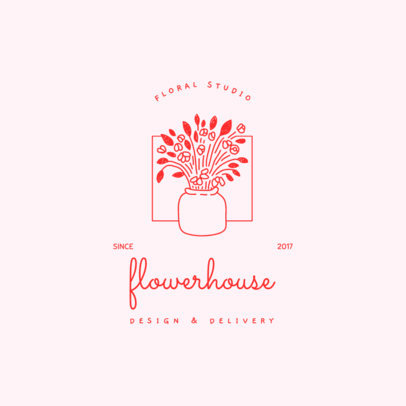 Floral Logo Maker for a Design and Delivery Company 4063k