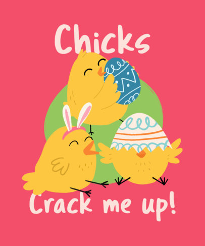 T-Shirt Design Creator with an Easter-Themed Illustration of Chicks 3387d