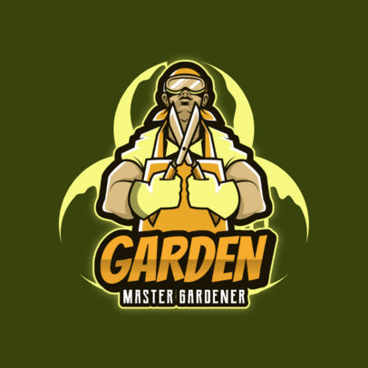 Gaming Logo Maker Featuring an Illustration of a Gardener 4060a