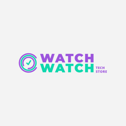 Online Logo Generator for a Tech Store Featuring a Smart Watch Graphic 4066e