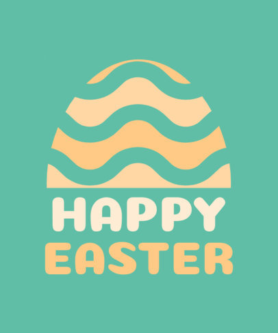 Holiday T-Shirt Design Template Featuring an Easter Egg Graphic 3384h