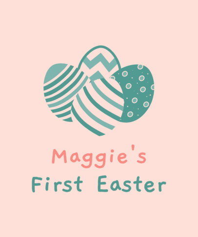 Easter-Themed T-Shirt Design Generator with an Eggs Icon and a Quote 3384f