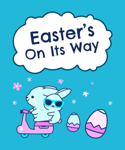 Easter-Themed T-Shirt Design Template for Children 3386a