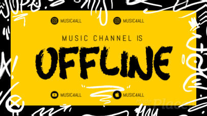 Twitch Offline Screen Video Maker for a Music Streaming Channel 2654