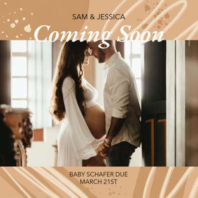 Facebook Post Template for a Pregnancy Reveal Announcement 3396