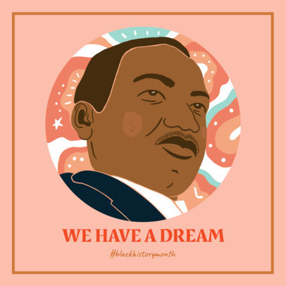 Facebook Post Design Creator with Portraits and Quotes for Black History Month 3412