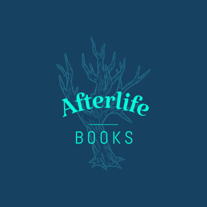 Bookstore Logo Generator Featuring an Engraved Tree 3931i