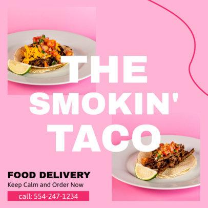 Instagram Post Design Template for Food Delivery Service Companies 3548-el1