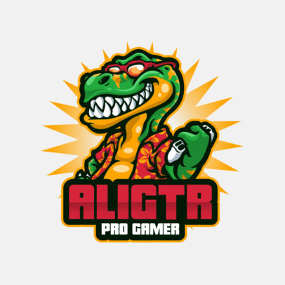 Logo Maker with Anthropomorphic Gamer Character Graphics 3492-el1